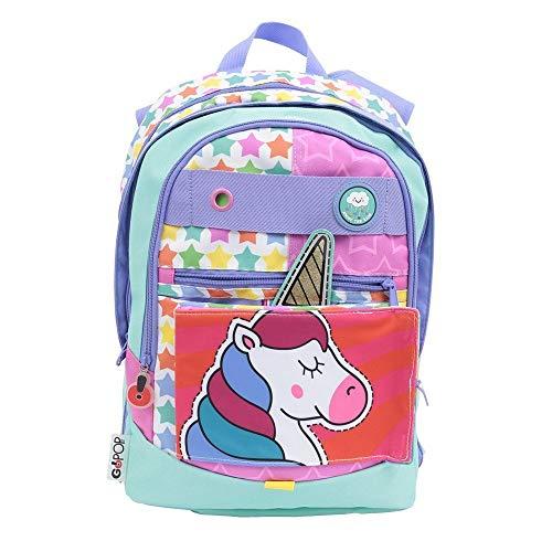 Zaino Scuola GoPop Dreamer Unicorno 5 in 1 Estensibile 31x43x17 cm con Orologio