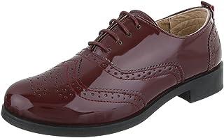 Mujer Amazon Para Mocasines esY Con Zapatos Rojo Jc5ulF1T3K