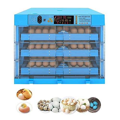 ZFF Egg Incubator Cabinet 192 Digital Poultry Hatcher Automatic Egg Tuning Tray Adjustable Temperature Control for Duck Goose Bird Quail