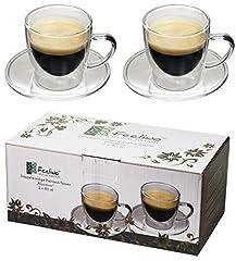 2x 80ml doppelwandige Espresso-Tassen mit