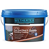 Cladding Paint 10 litres   Wethertex CP80 Clad-Seal Steel & Cladding Coating   Assorted Colours RAL & BS (Black)