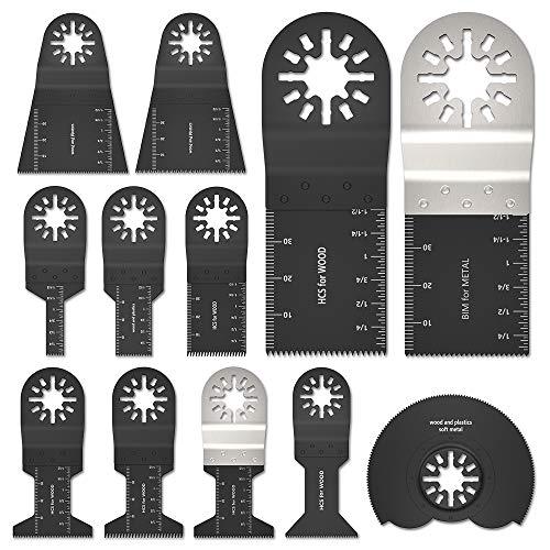 12PCS Cuchillas Oscilantes Multiherramienta Accesorios para