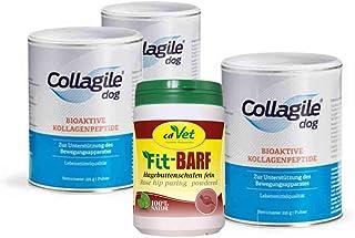 Collagile ® Dog 3 x 225 g + cdVet Fit-Bär, escaramujo, corte fino de 150 g