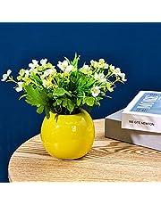 GaoTuo Konstgjorda blommor med vas, konstgjorda blommor silke konstgjorda blommor i kruka, slät vaseb?konstgjord växt, för hem vardagsrum kontor fest