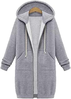 Oyedens Cappotti Donna Cappotto Giacca Felpa Outdoor Sweatshirt Sweater Elegante Outwear Inverno Jacket Overcoat Manica Lunga Cardigan Print Hooded Taglie Forti Coat