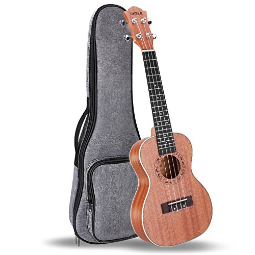 UKELE Concert Ukelele 23 Inch Ukulele Professional Wooden Beginner Instrument Small Hawaiian Guitar Bundle with Gig Bag for Starter