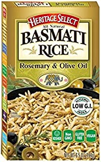 Heritage Select Basmati Rice, Rosemary & Olive Oil with Orzo Pasta, 6.5 Ounce (Pack of 6)