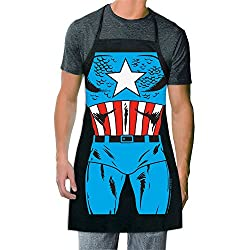 This Captain America apron is a creative letter C themed gift idea