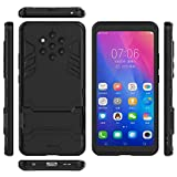 QiongniAN Funda para Nokia 9 PureView,2 en 1 (con Soporte) Funda para Nokia 9 PureView Funda Carcasa Case Black