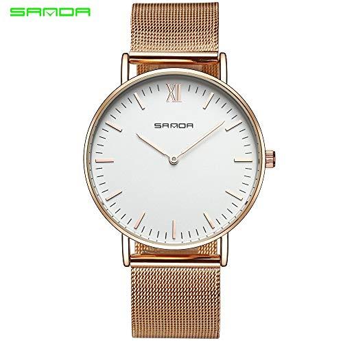 SJXIN Coole stilvolle Sanda-Uhr, Sanda Netz mit Uhr Herrenuhr Quarzuhr Uhr Sportuhren (Color : 3)