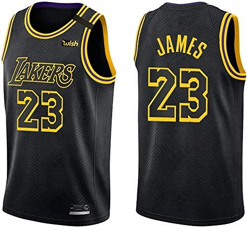 CLQ Camiseta-Camiseta de los James Lakers - Camiseta Negra Mamba Golden Jersey White City Edition / 23#-UN_XXL