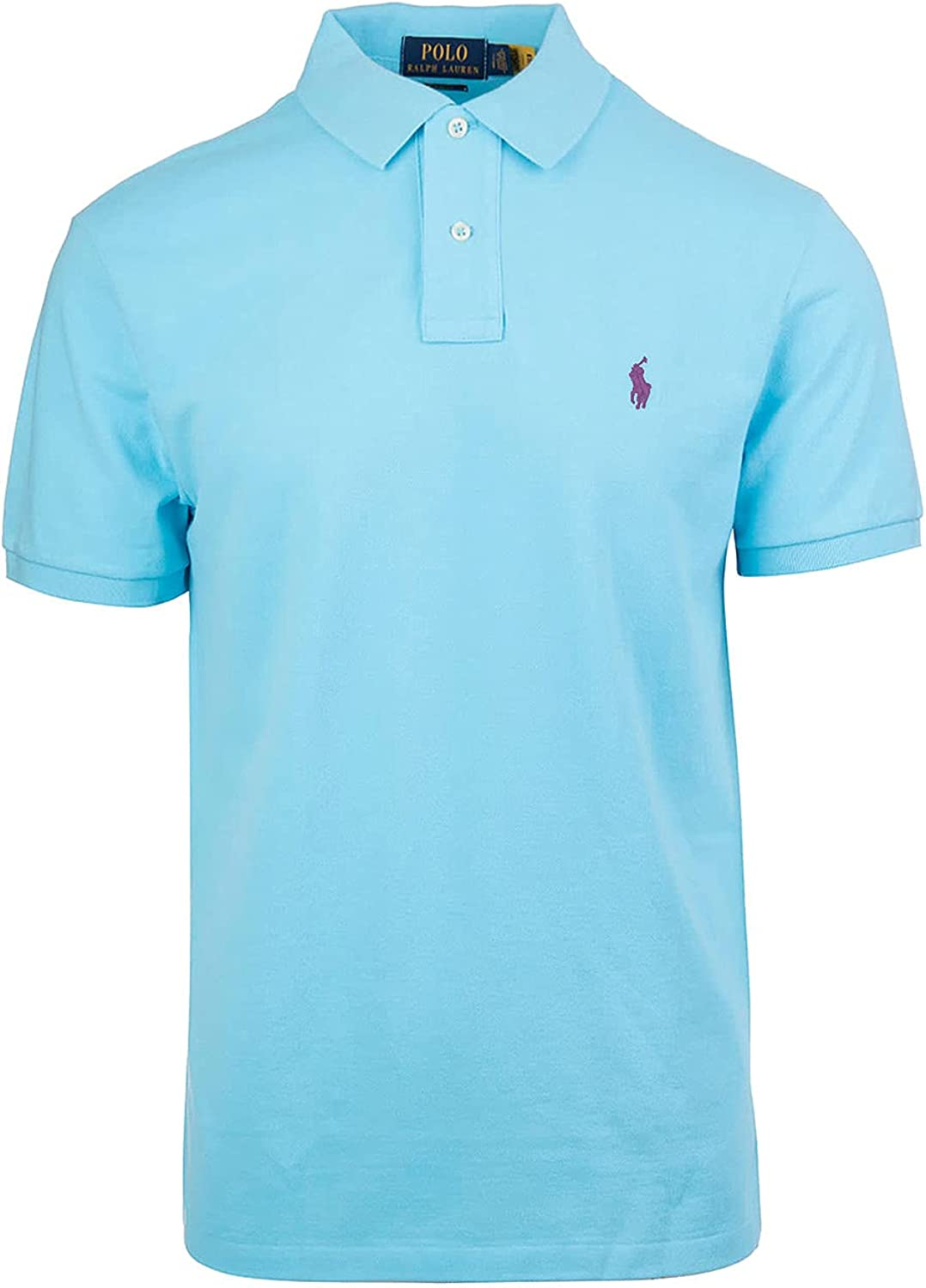 Polo Ralph Lauren Mens French Turquoise Soft Cotton Polo Shirt