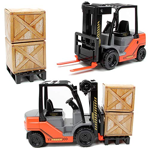 Liberty Imports Friction Fork Lift with Pallet Cargo Warehouse Truck Vehicle Toy Forklift for Kids (1:22 Scale)