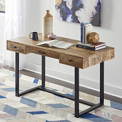 Martin Furniture IMSR384 Sawyer Wood, Rustic Writing Table, Office Desk, Brown