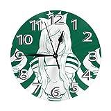 Jacque Dusk Reloj de Pared Moderno,Senpai,Grandes Decorativos Silencioso Reloj de Cuarzo de Redondo No-Ticking para Sala de...