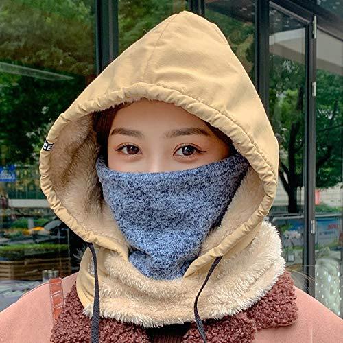 Mujer Adulta Unisex sólido Lindo Sombrero Invierno cálido silenciador Gorra Proteger mascarilla Ropa Zapatos y Accesorios Sombrero