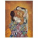 Nórdico estilo Gustav Klimt famoso cuadros clásico abstracto hombres y mujeres carteles murales arte impresiones sala pared Decoracion 40x60cm sin marco