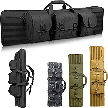 Sunfiner Double Soft Rifle Case American Classic Tactical Rifle Bag & Long Gun Case Lockable Gun Bag for Rifle and Pistol Storage or Transportation Available Length in 36  42   Black 42