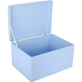 Creative Deco XXL Azul Grande Caja de Madera para Juguetes | 40 x ...