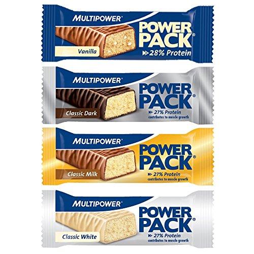 Multipower Power Pack Protein Bar Eiweissriegel a 30 x 35g) BIG BOX, Classic Milk
