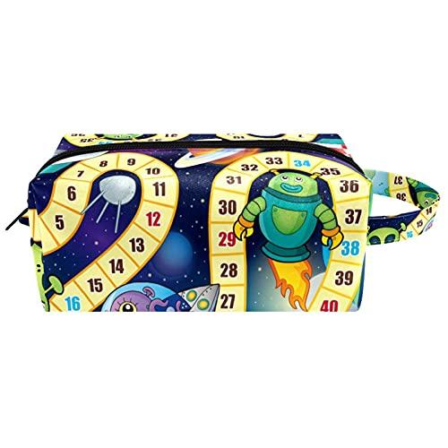 Bolsa de aseo colgante para cosméticos, organizador de papelería, estuche portátil, color azul ballena