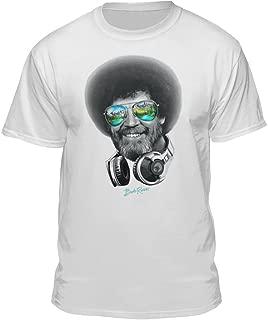 DJ Bob Ross Officially-Licensed Headphone & Shades Men and Women Short Sleeve T-Shirt (Multiple Colors)