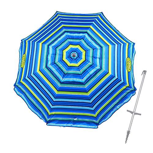 7 ft Fiberglass Tommy Bahama Beach Umbrella for...