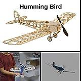 Humming Bird Slow Flyer Kits de Modélisme, Maquette d'avion avec Bois de Balsa, Échelle 1/20, 500 mm d'envergure des Ailes, Kit modèle RC, 312 x 500 x 128 mm, découpé au Laser, Poids en vol 50 GR