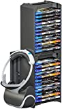 Skywin VR Headset & Video Game Organizer - 24 CD Game Disk Tower, VR / Headset Hanger, and Vertical Stand for PSVR