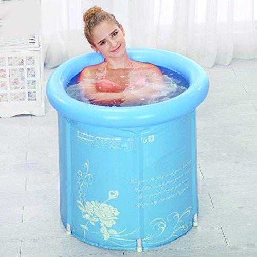 Tinksky - Vasca da bagno pieghevole e gonfiabile, in plastica ultra spessa, per adulti
