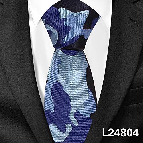 ZHAOSHUNAN Krawatten Camouflage Tie Männer Casual Slim Tie Enge Party Jacquard Herren Krawatte @ F