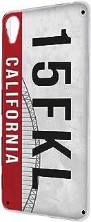 スマホケース ハードケース Xperia Z5 SO-01H・SOV32・501SO 対応 ナンバープレート・カリフォルニア CALIFORNIA ビンテージ USA アメリカン SONY ソニー エクスペリア ゼットファイブ docomo a...