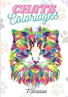 CHATS Coloriages Mandalas: Motifs de chat à colorier pour se détendre | coloriages anti-stress - cadeau pour les amoureux des chats