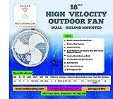 Misting Fan - Patio Mist Fan - Outdoor Mist Fan - For Residential, Commercial, Restaurant and Industrial Misting Application (18 Inch White Fan)