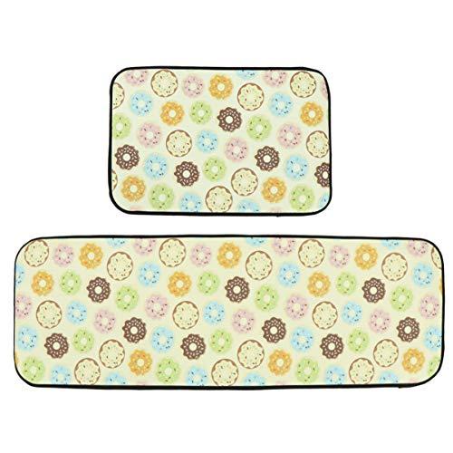 IMIKEYA keuken deur matten antislip kamer tapijt kleur donuts matten voor bed keuken woondecoratie 2 stks