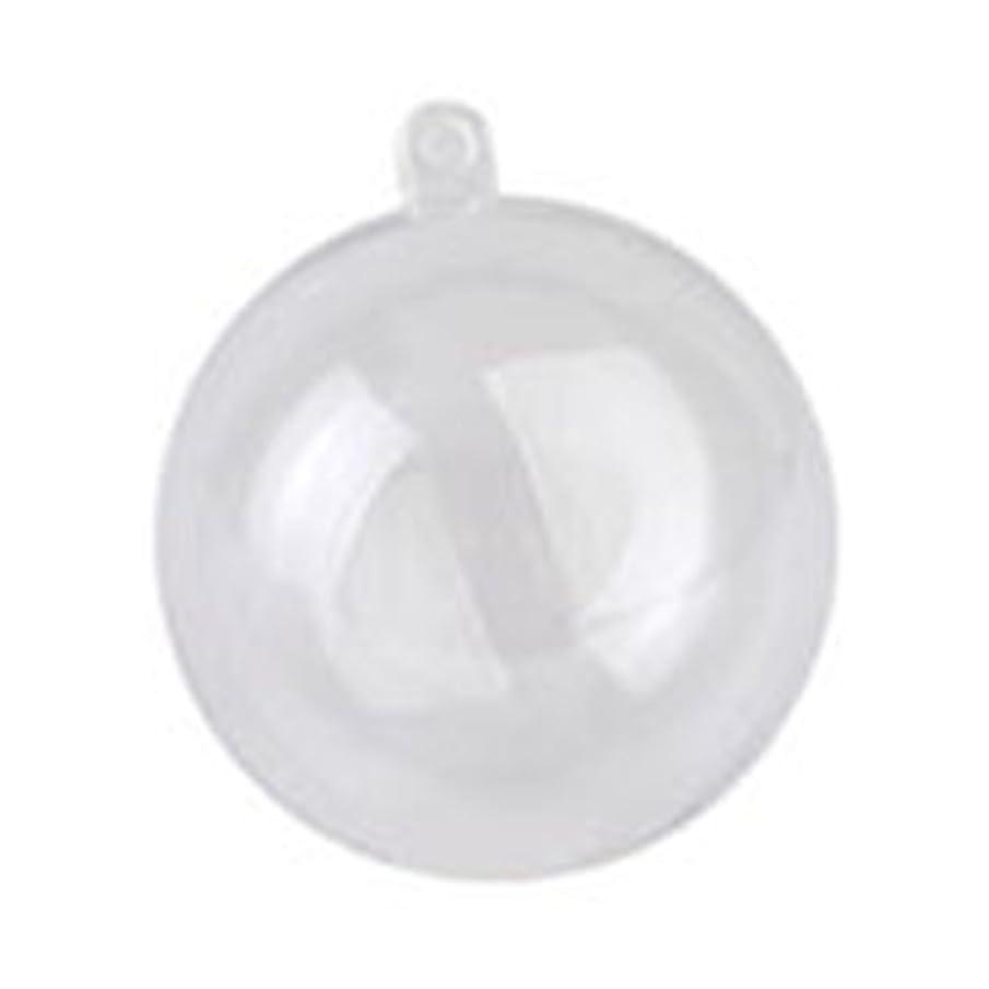 紫の体系的に応用クリスマス用品 クリスマスデコレーション 雰囲気作り 透明 プラスチック DIY クリスマスツリー吊り装飾用 バブル オーナメント