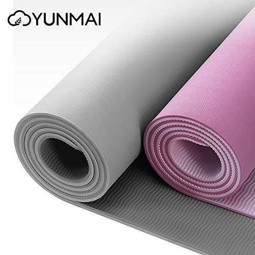 TPE Tappetino da Yoga con Custodia 6mm Tappetini per Pilates Antiscivolo a Doppia Faccia di Alta Qualità Tappetino per Esercizi ad Aderenza Allenamento Ecologici Palestra Esterna 183 X 61 X 0,6
