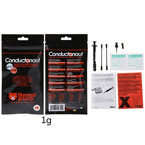 Vivitoch Thermal Grizzly Conductonaut 1 g Grafikkarte CPU GPU Kühlung Liquid Metal Thermal Compound Kühler Fan Thermal Grease 73 W/mk