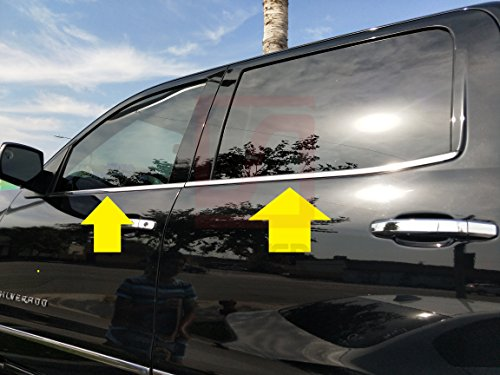 Fits Cadillac Escalade 2007-2014 Carbon Fiber Door Pillars B-Pillar Post Protect