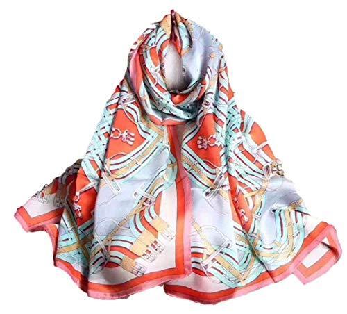 Hoge Kwaliteit Zijde Sjaal Patroon Bloemen Geschenken Voor Mannen Stole Dames Lange Elegante Zijde Sjaal E Zijde Satijn Satijn Slanke Sjaal (Kleur : 10, Maat : 180 * 65CM)