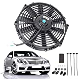 Queiting 12 inch 80W 12V Universal Cooling Straight Radiator Fan Kit Car Push-Pull
