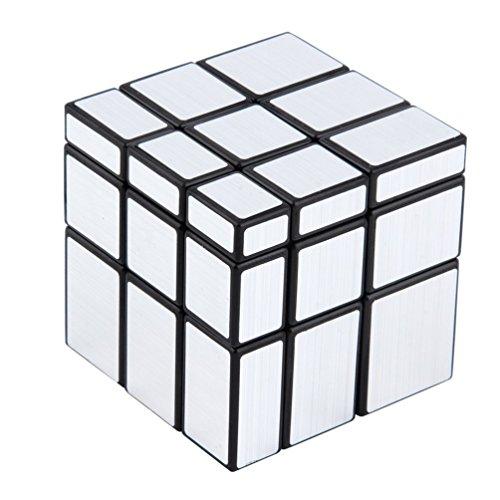 3X3X3 Bloques de Espejo compactos y portátiles Silver Shiny Magic Cube Puzzle Rompecabezas Iq Kid Divertido en Todo el Mundo Gran Regalo (Plata)