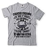 Silk Road Tees Camiseta de la reparación del Ordenador Masculino Curioso Divertido Suficiente Técnico de Software Ingeniero en Informática Ingeniero Camiseta Medium Gris