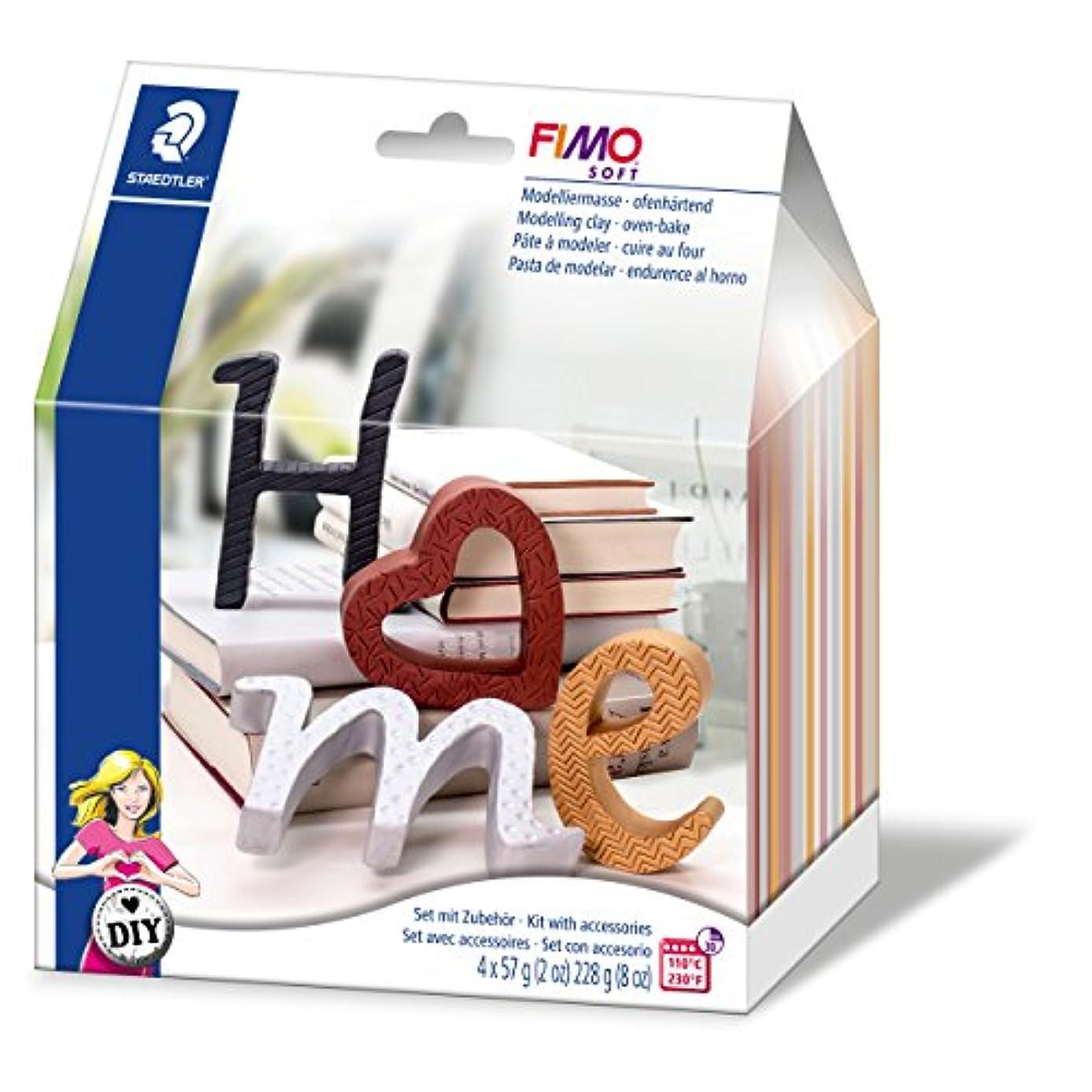 STAEDTLER Fimo Soft 8025?11?DIY Home Deco Set 'Letters'