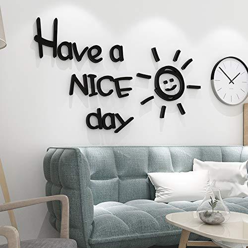 VHVCX Wind einfache 3D dreidimensionale Wandaufkleber Wohnzimmer Schlafzimmer Sofa Hintergrund dekorative Selbstklebeetiketten Netto-rot, schwarz, medium