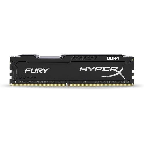 HyperX FURY Memory Black 2666MHz 8GB DDR4 2666MHz módulo de - Memoria (8 GB, DDR4, 2666 MHz, PC/server, 288-pin DIMM, 1 x 8 GB)