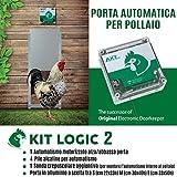 Porta Automatica crepuscolare per pollaio Kit Logic 2...