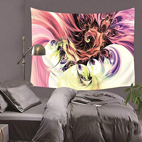 JTGTQ Wandtapijt, diermandala-polyester, 150 x 170 cm, vierkant wandtapijt, tapijt, werp-/yogamat voor hoofdslaapkamerdecoratie