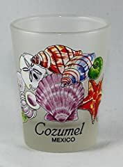"5x6cm style shot glass Measures 2.25"" tall and 1.8"" in diameter Souvenir from Cozumel, Mexico Makes a great gift or a nice collector's item"