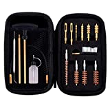 BOOSTEADY Universal Handgun Cleaning kit .22.357.38,9mm.45 Caliber Pistol Cleaning Kit Bronze Bore Brush and Brass Jag with Empty Bottles